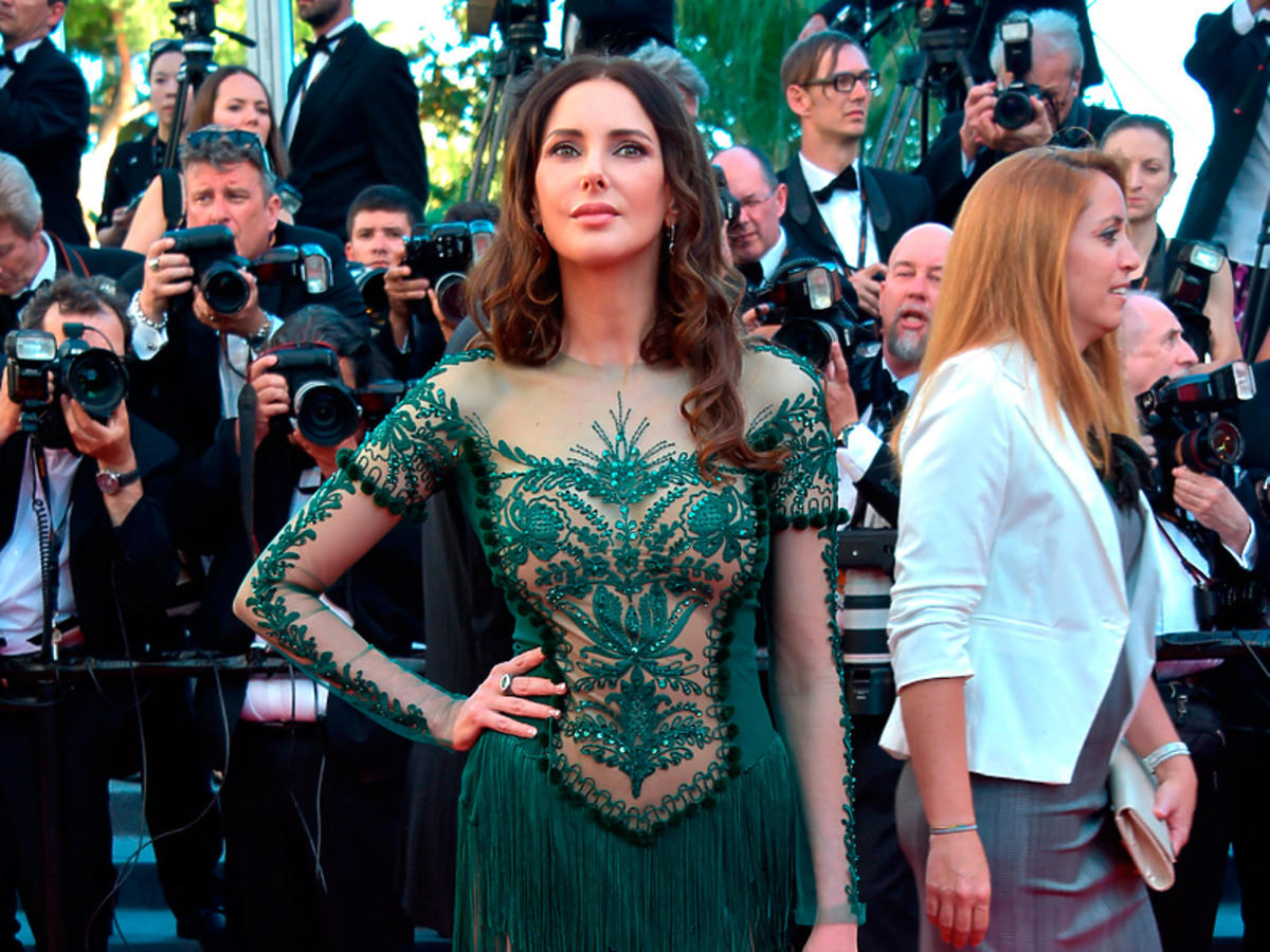 Frederique Bel na inauguracji Cannes