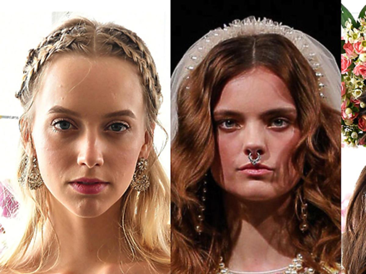 Fryzury z Bridal Fashion Week
