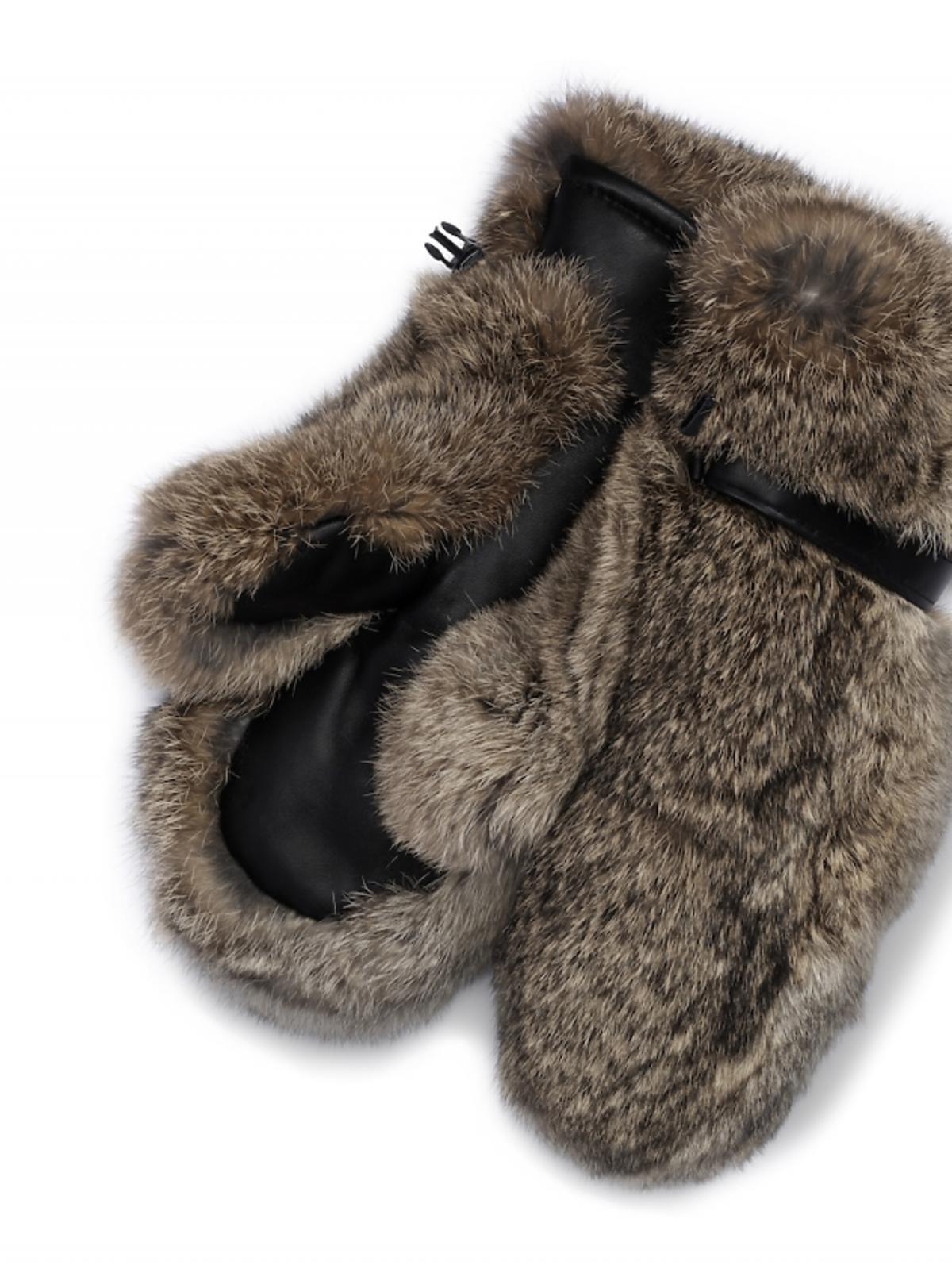 futrzane rękawiczki