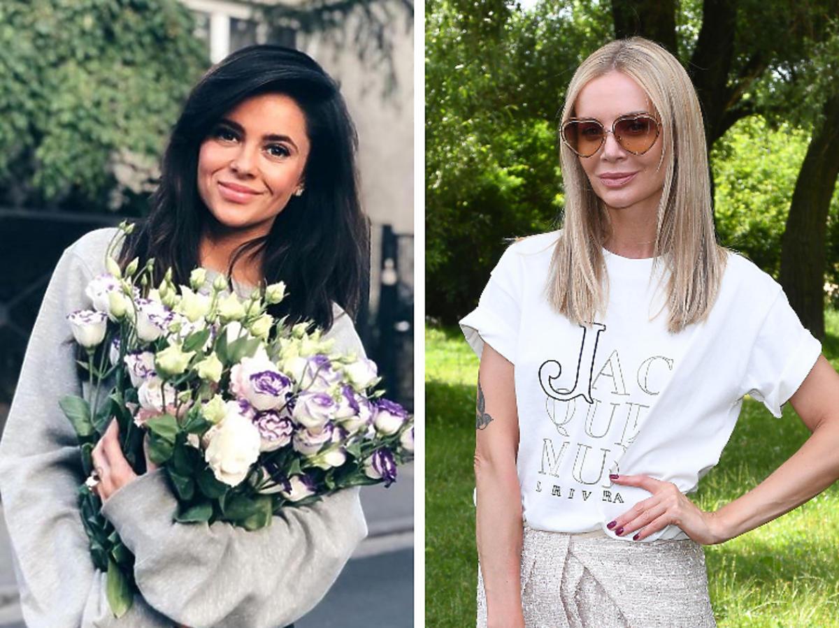 Gabi Drzewiecka z kwiatami, Agnieszka Woźniak-Starak w białej koszulce