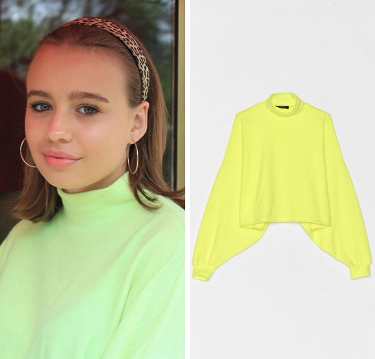 Gdzie kupić neonową bluzę w stylu Oliwii Bieniuk