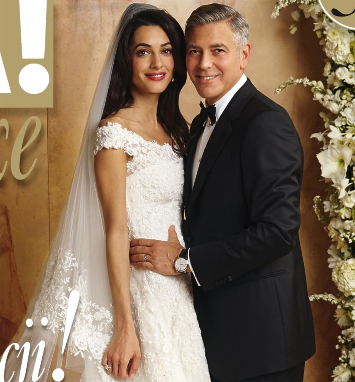 George Clooney z żoną na okładce Vivy. Ślubna sesja George Clooneya