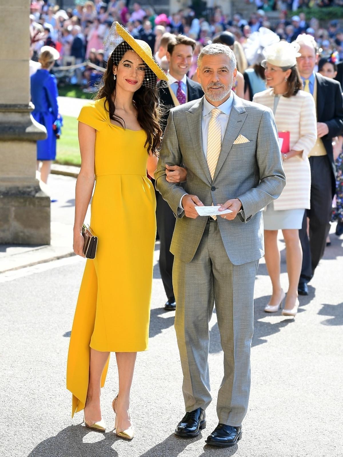 George Clooney z żoną na ślubie Meghan Markle i księcia Harry'ego