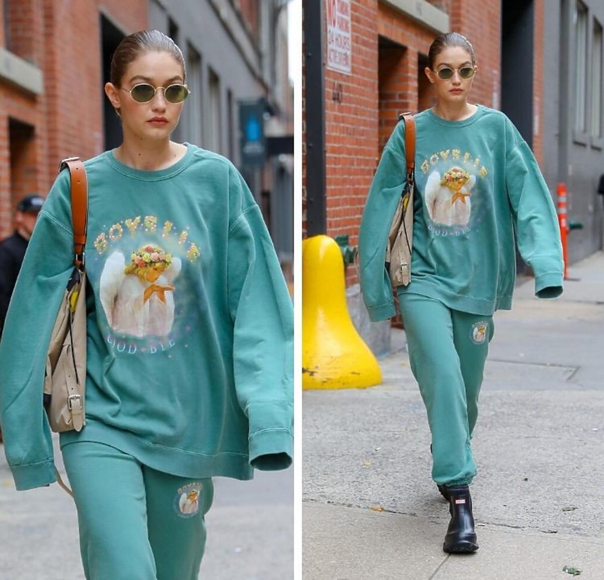 Gigi Hadid w kolorowych dresach
