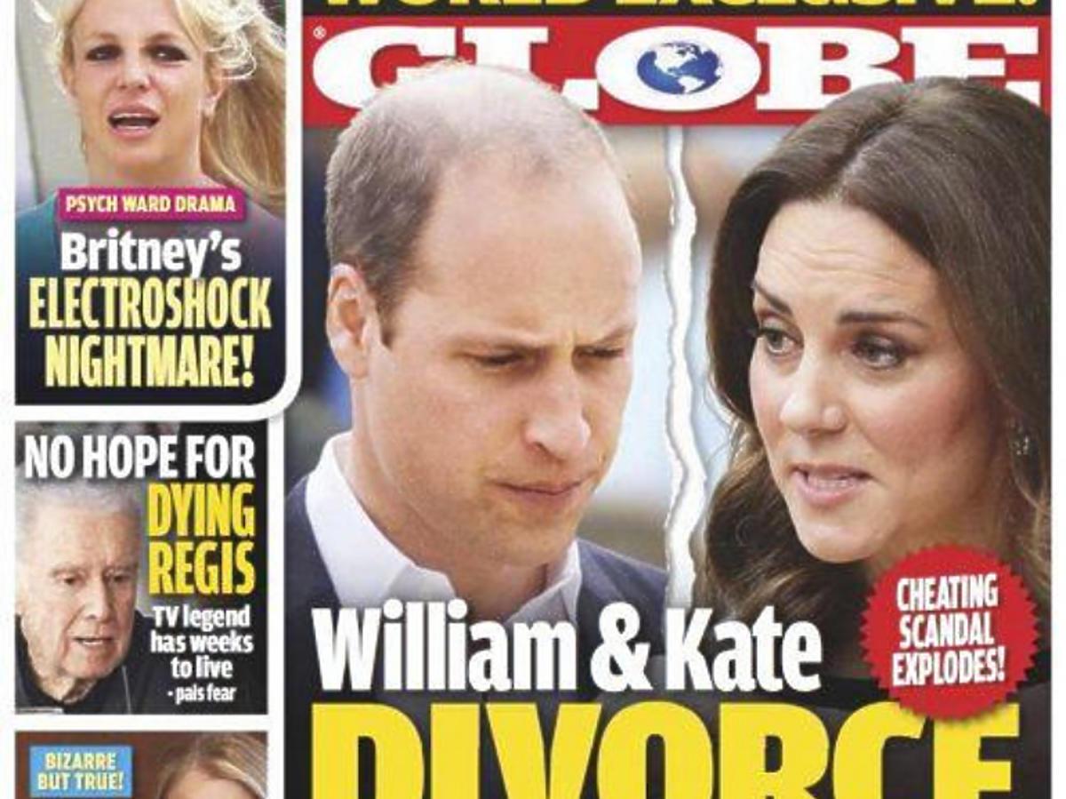 Globe okładka rozwód Kate i Williama