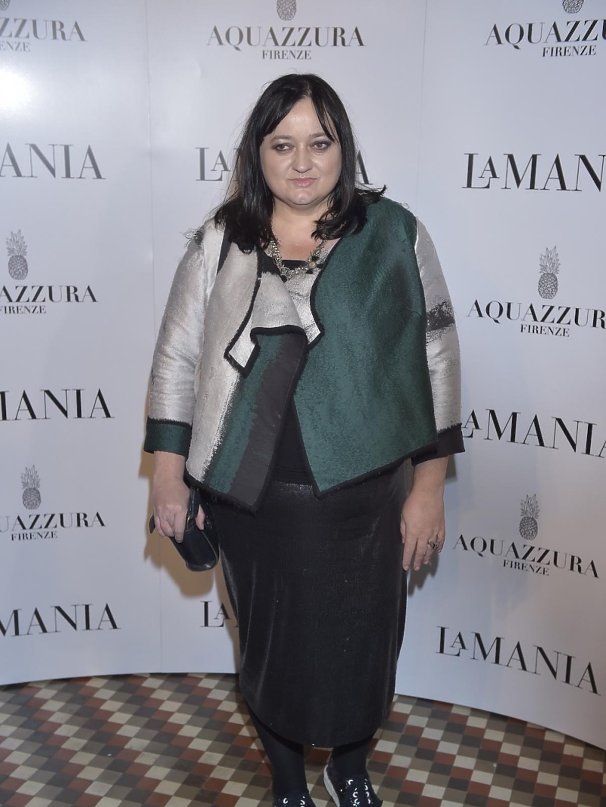 Gosia Baczyńska na prezentacji La Mania