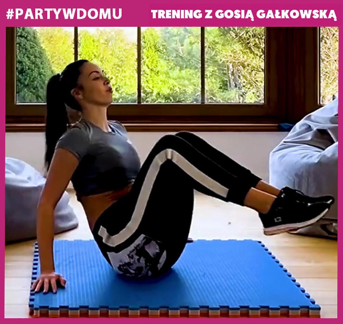 Gosia Gałkowska trening spalanie całego ciała