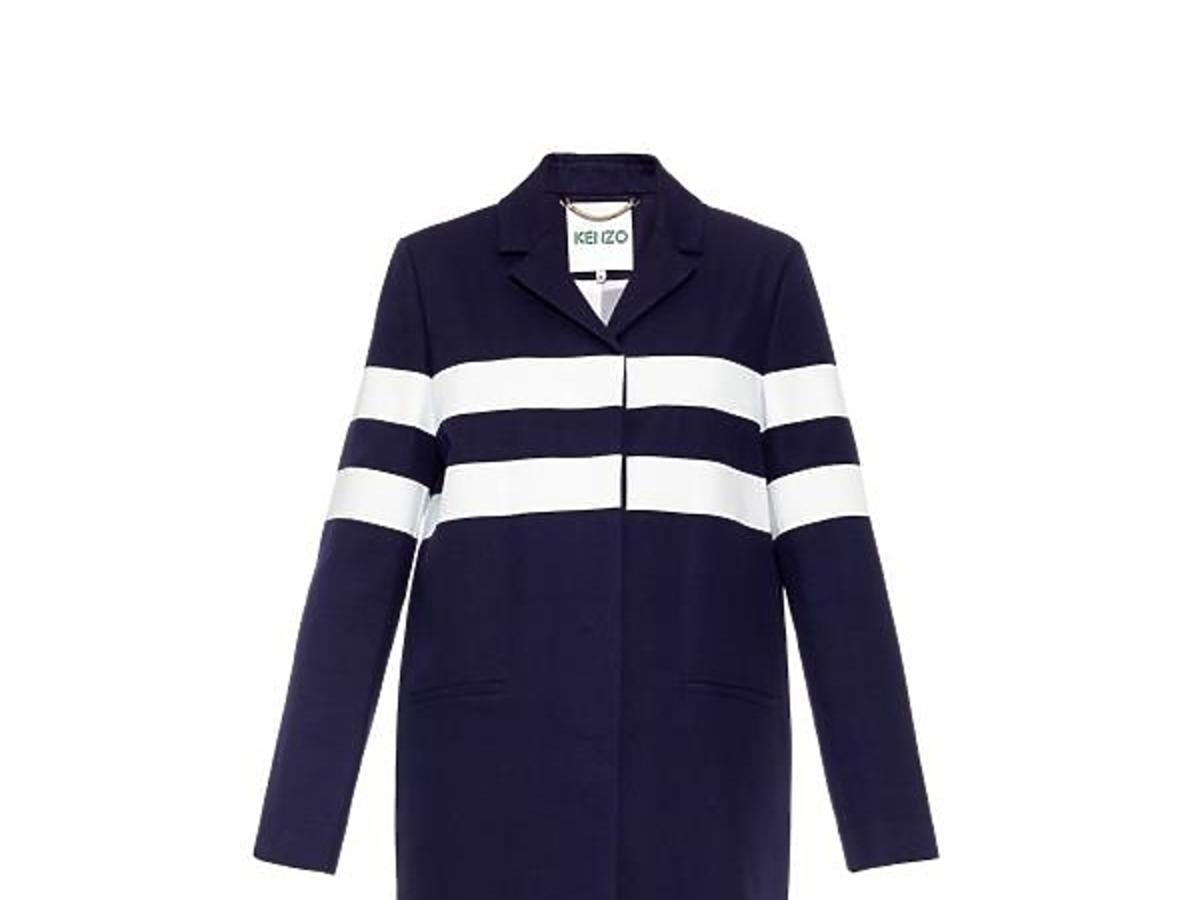 Granatowy płaszcz Kenzo, cena