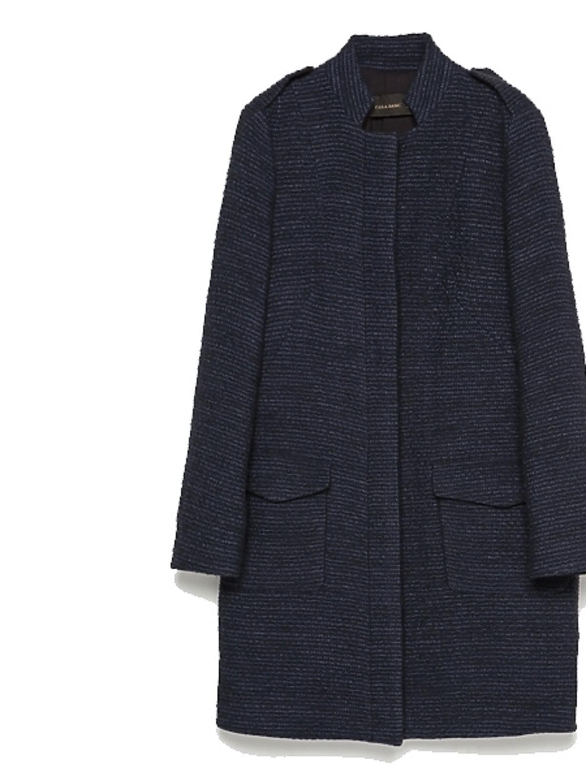 Granatowy płaszcz Zara, cena