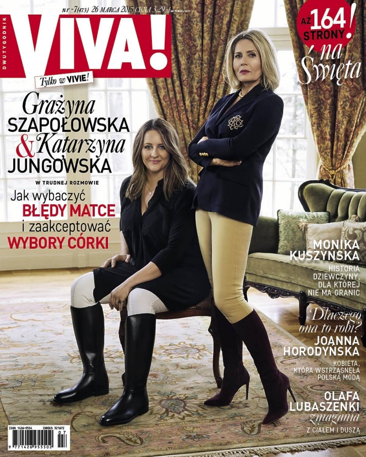 Grażyna Szapołowska i Katarzyna Jungowska na okładce Vivy