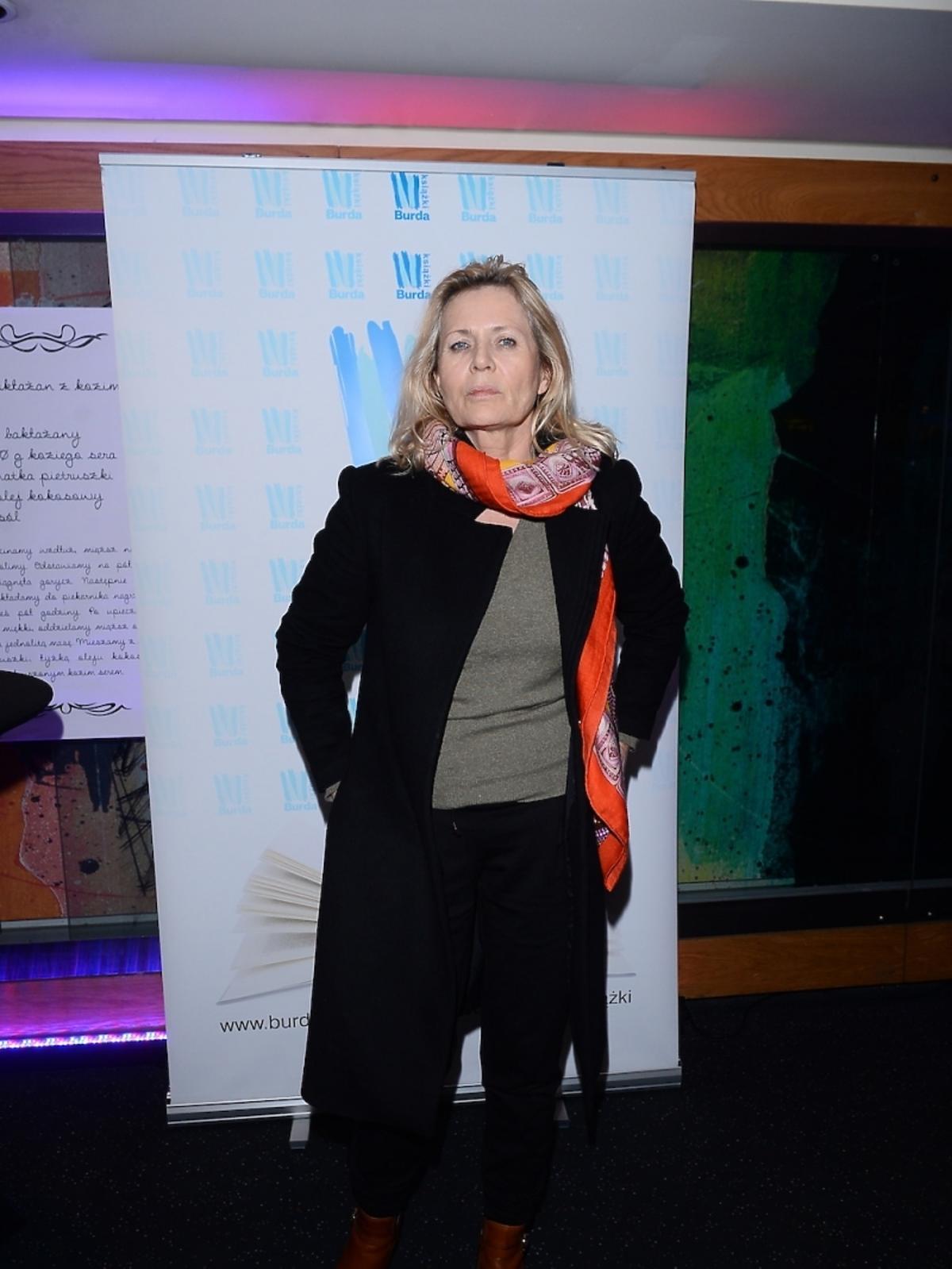 Grażyna Szapołowska na premierze książki Agaty Młynarskiej