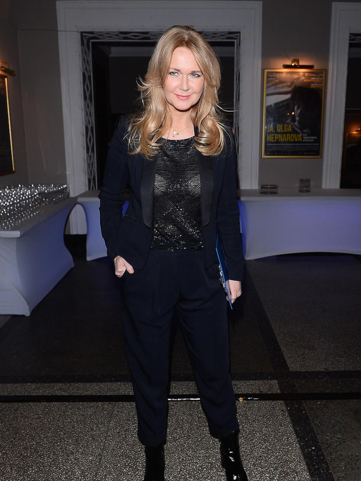 Grazyna Torbicka w czarnych spodniach