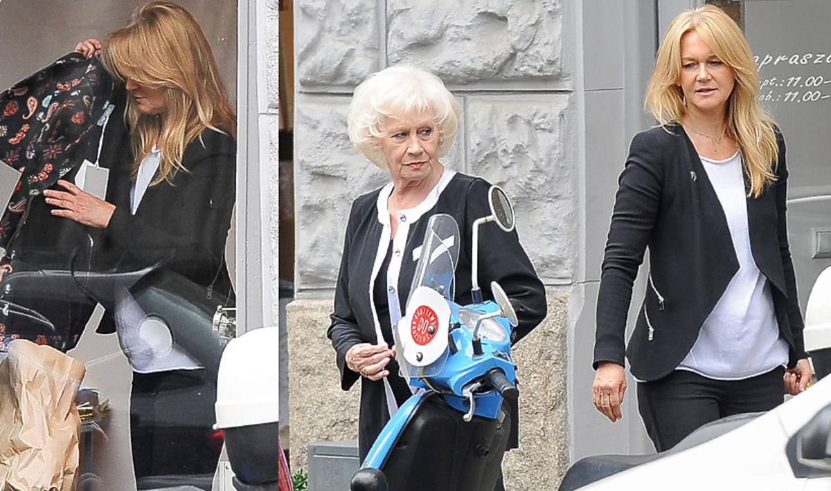Grażyna Torbicka z mamą na zakupach