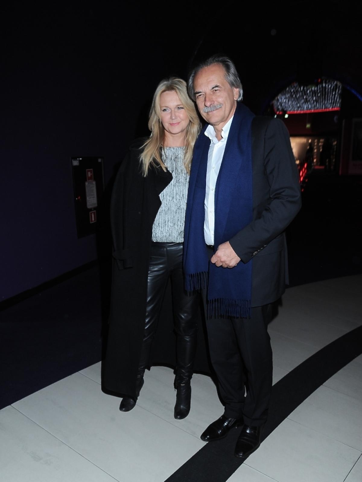 Grażyna Torbicka z mężem na premierze filmu Bogowie