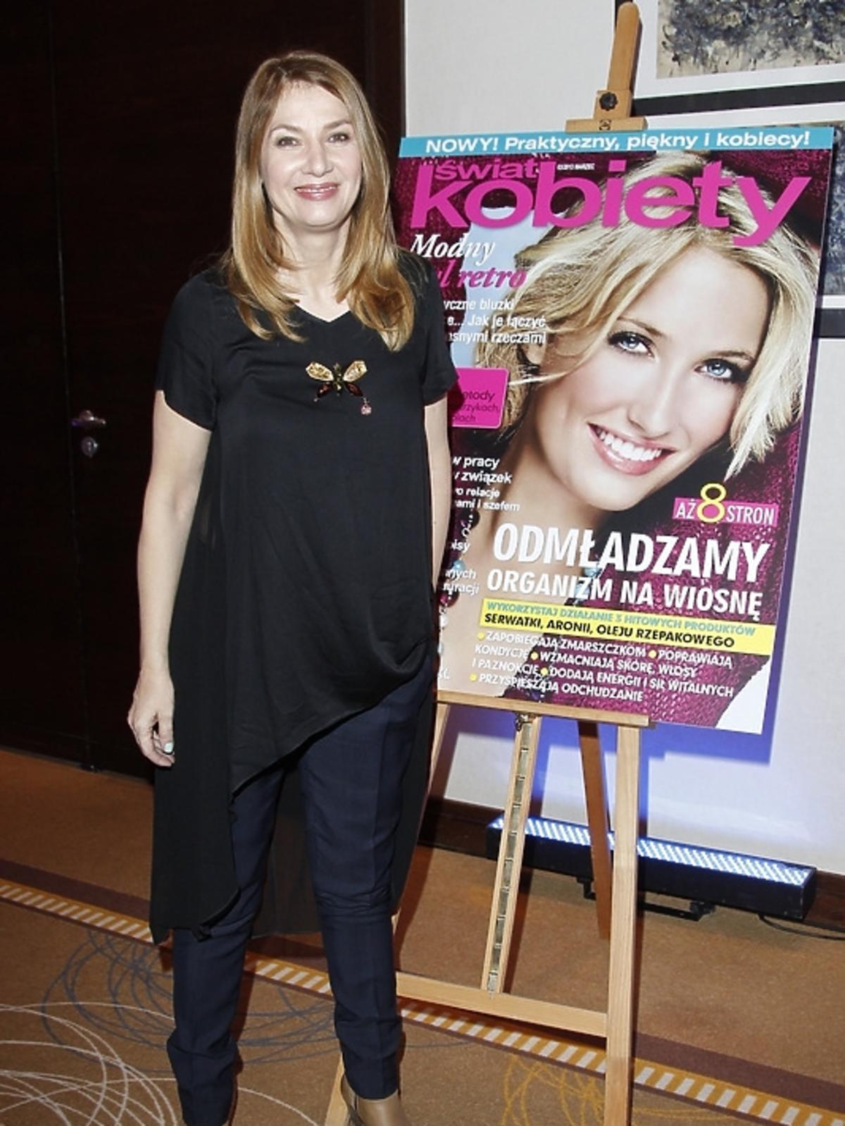 Grażyna Wolszczak na gali Superproduktu Świata Kobiety 2012