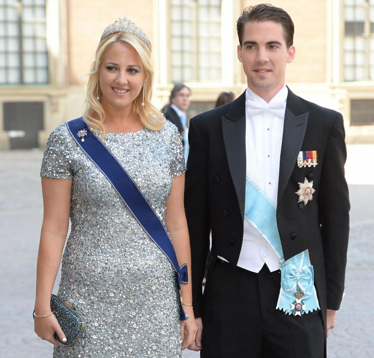 Grecki książę Philippos z żoną