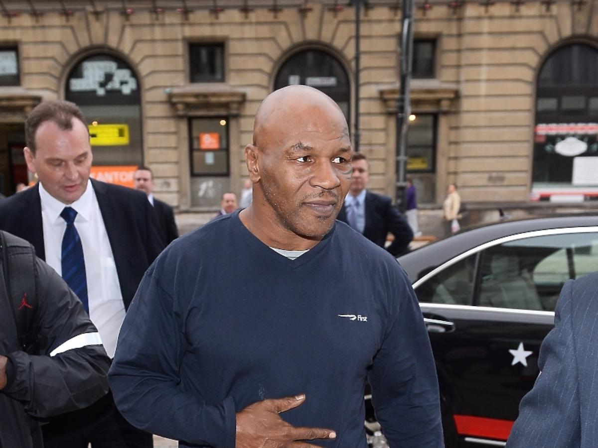 Groźny Mike Tyson z wizytą w Warszawie