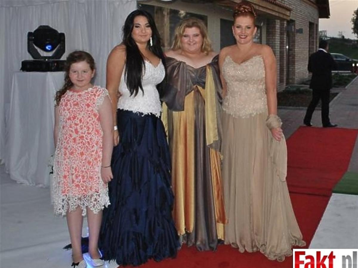 Grycanki (Marta Grycan z córkami) na weselu Michała Wiśniewskiego i Dominiki Tajner