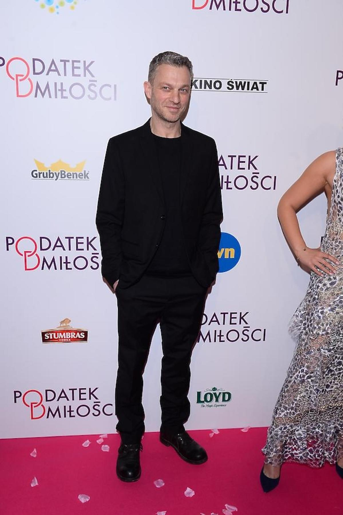 Grzegorz Damięcki na premierze