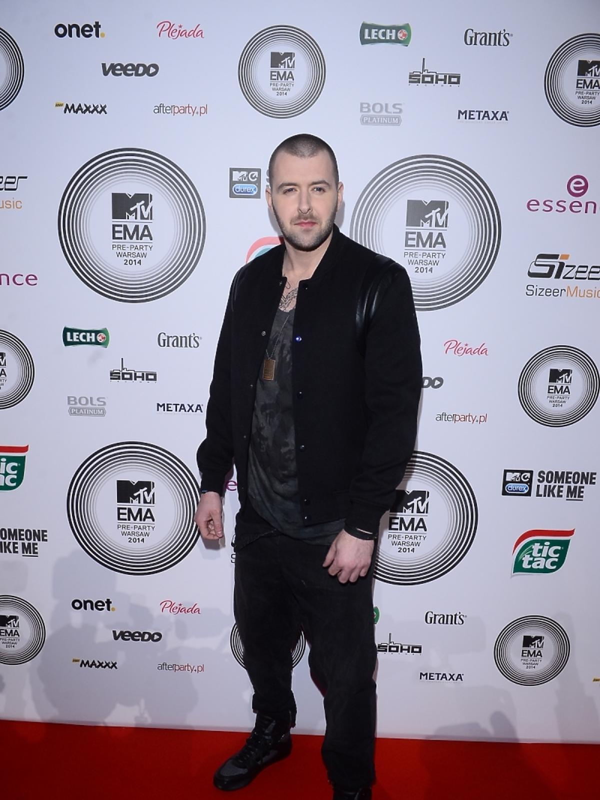 Grzegorz Hyży na MTV EMA Pre-Party 2014