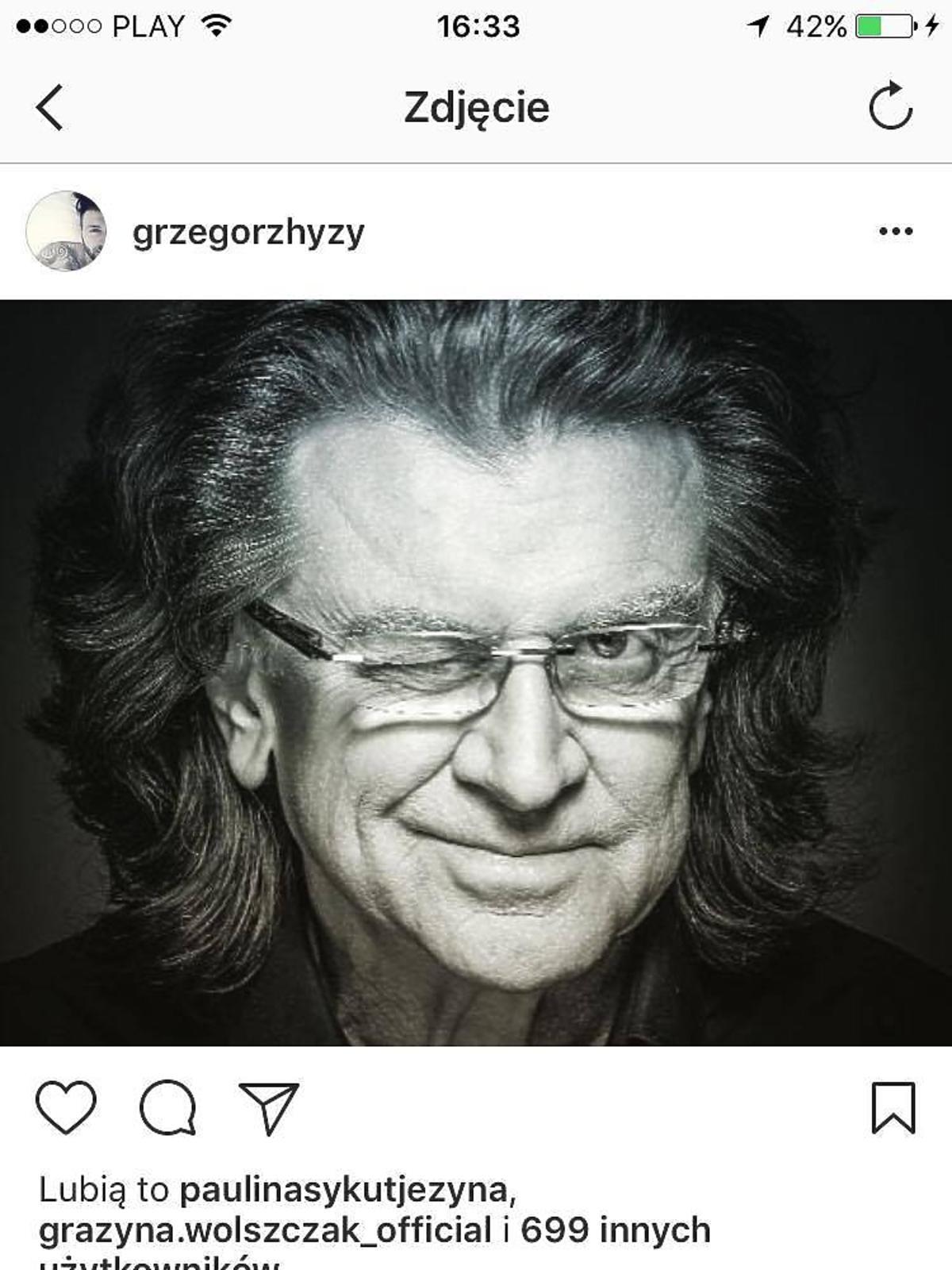 Grzegorz Hyży żegna Zbigniewa Wodeckiego