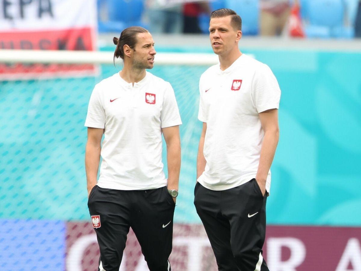 Grzegorz Krychowiak i Wojciech Szczęsny na boisku