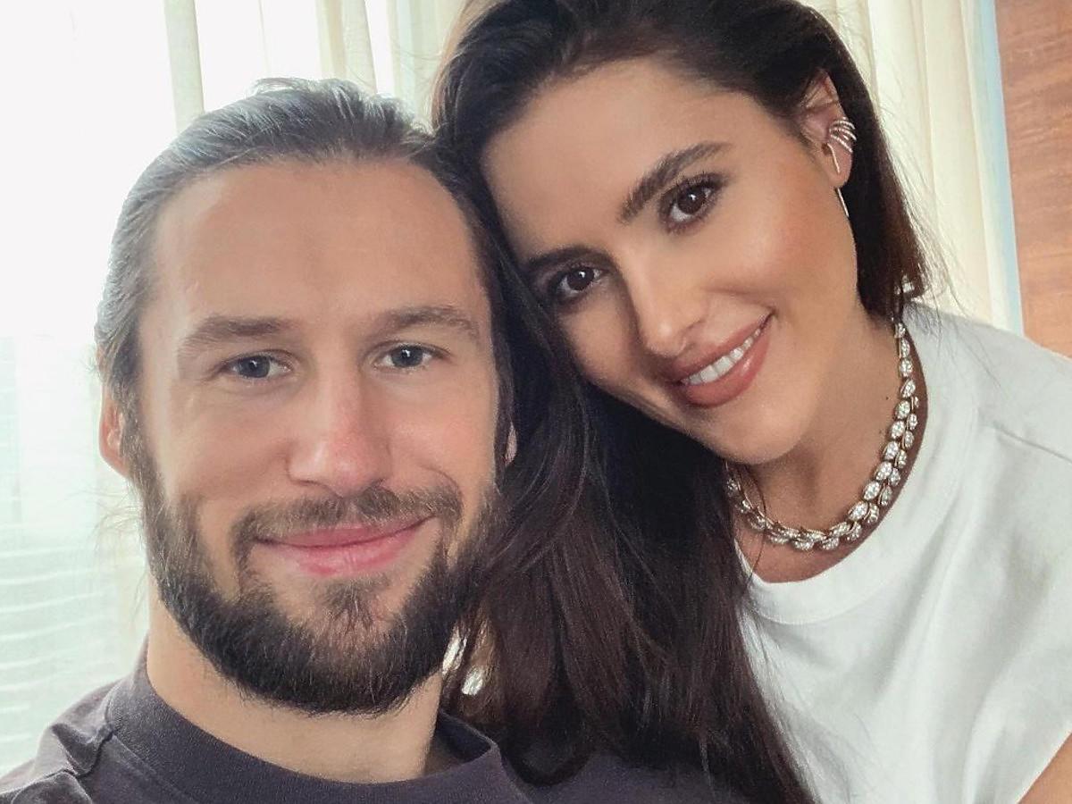 Grzegorz Krychowiak z żoną, Celią