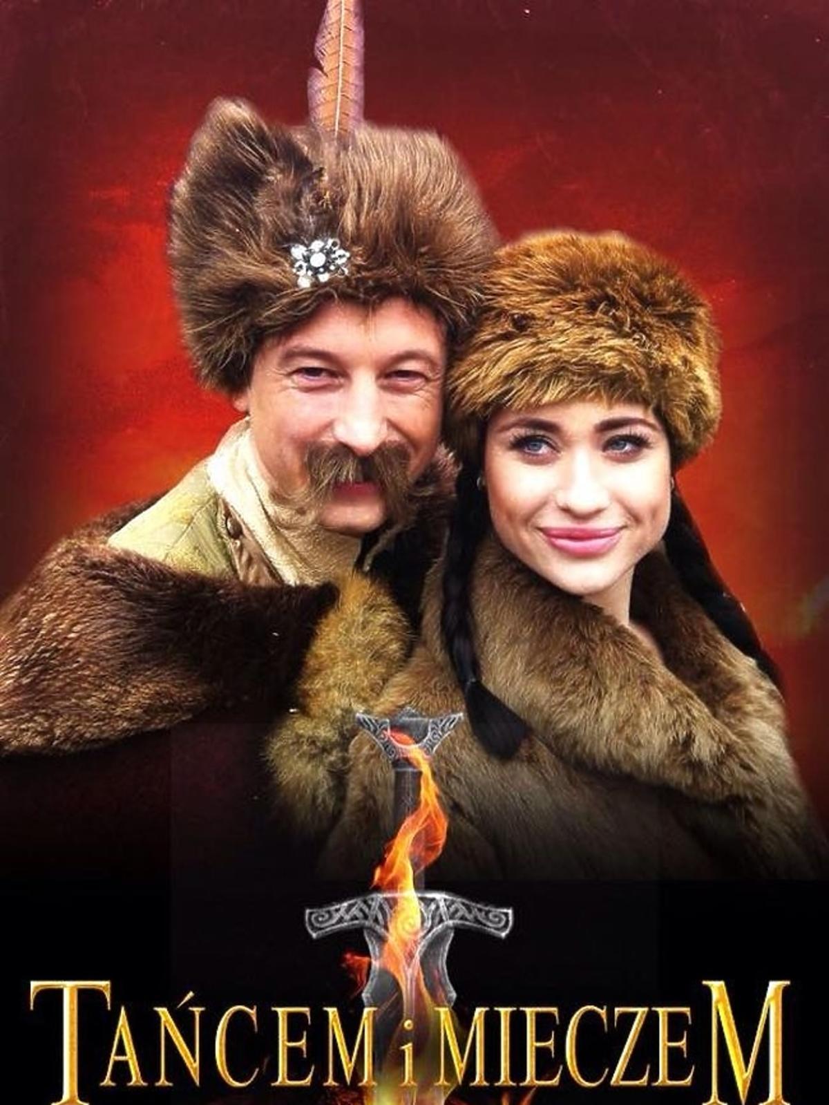 Grzegorz Łapanowski i Walerija Żurawlewa na plakacie filmowym