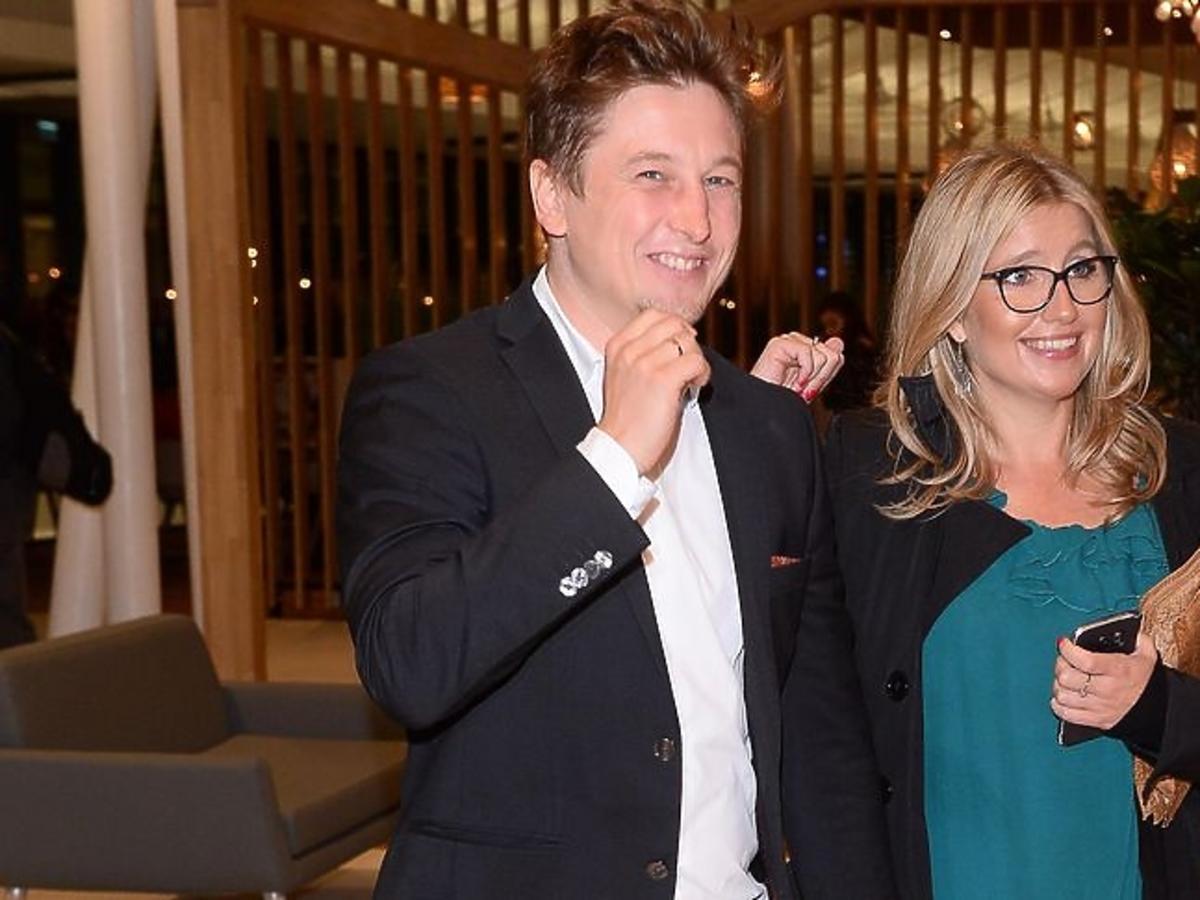 Grzegorz Łapanowski z żoną na otwarciu Cinema City w Galerii Północnej