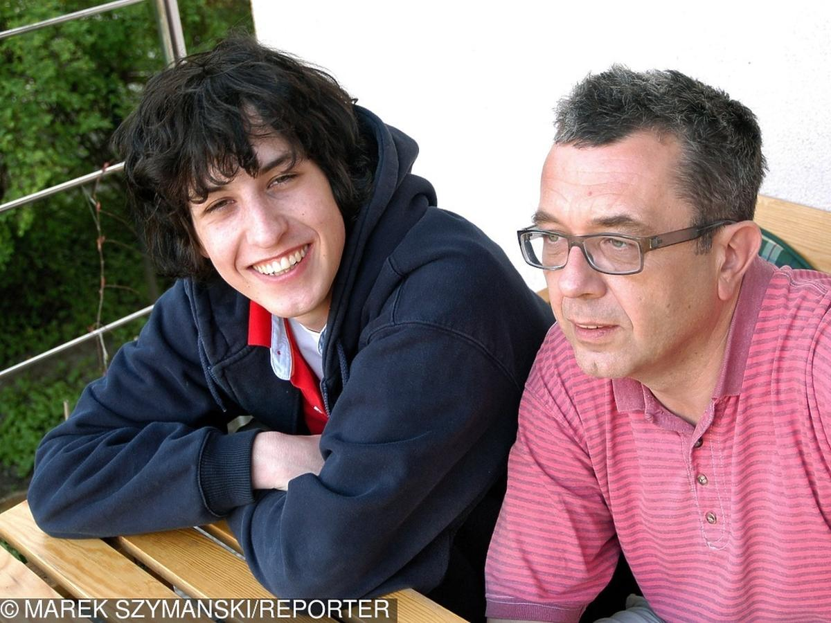 Grzegorz Miecugow i jego syn Krzysztof Miecugow