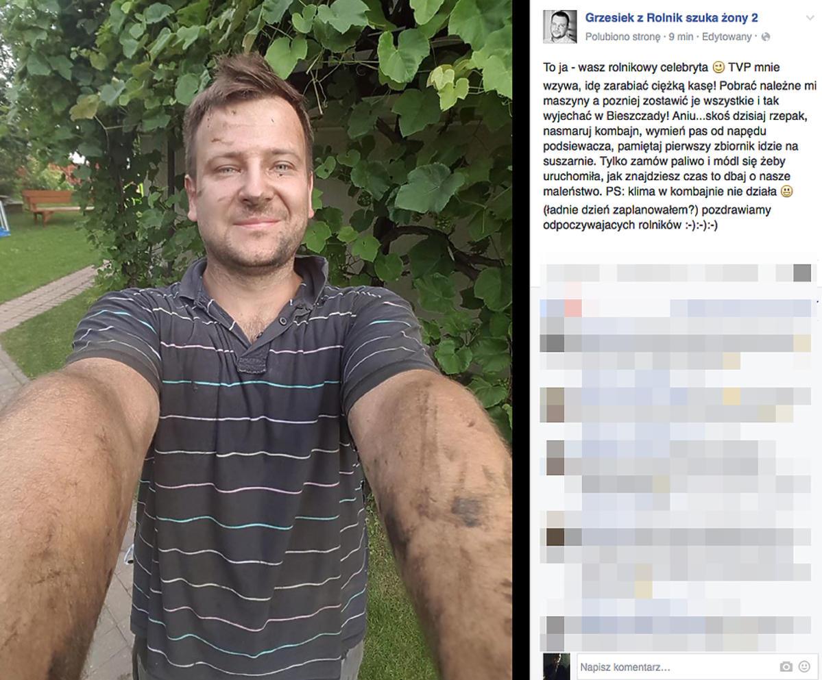 Grzegorz z Rolnik szuka żony jedzie do TVP