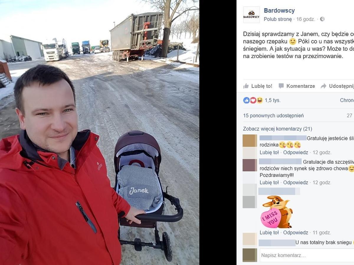 Grzesiek z Rolnik szuka żony z synem na spacerze