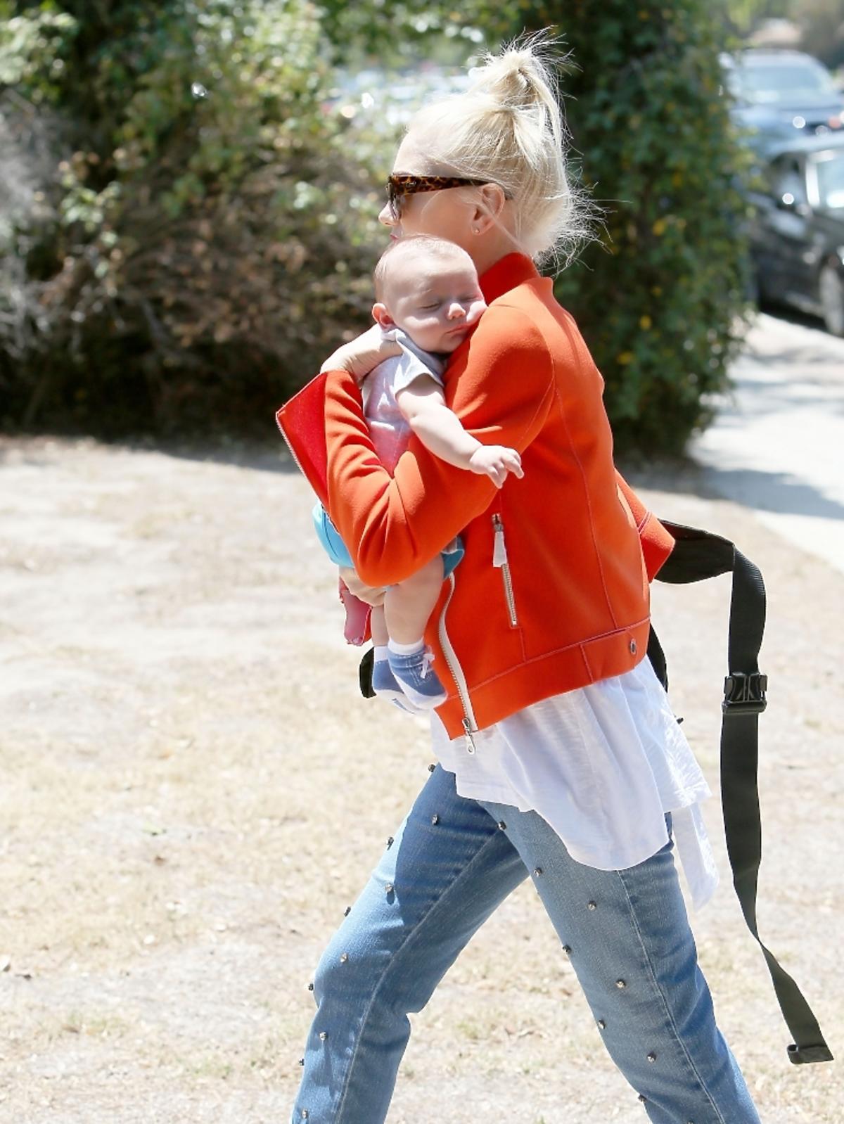 Gwen Stefani z synkiem i mężem w Los Angeles