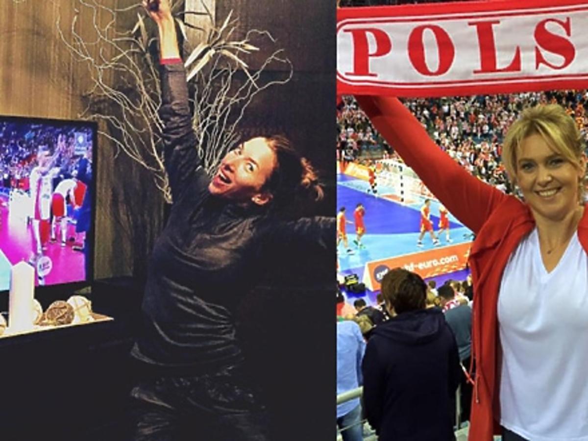 Gwiazdy kibicowały podczas meczu Polska-Francja