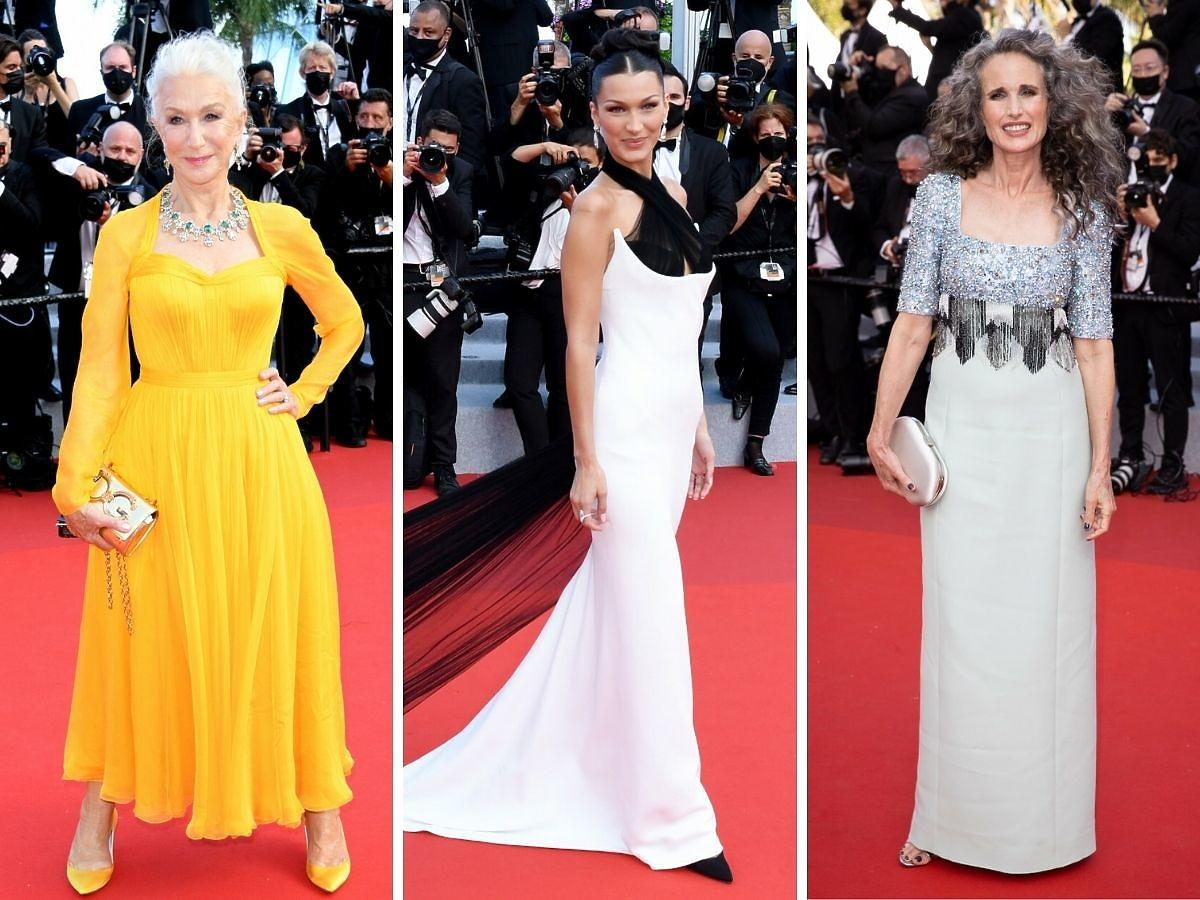 Gwiazdy na festiwalu w Cannes 2021 helen Mirren Bella Hadid Andie McDowell