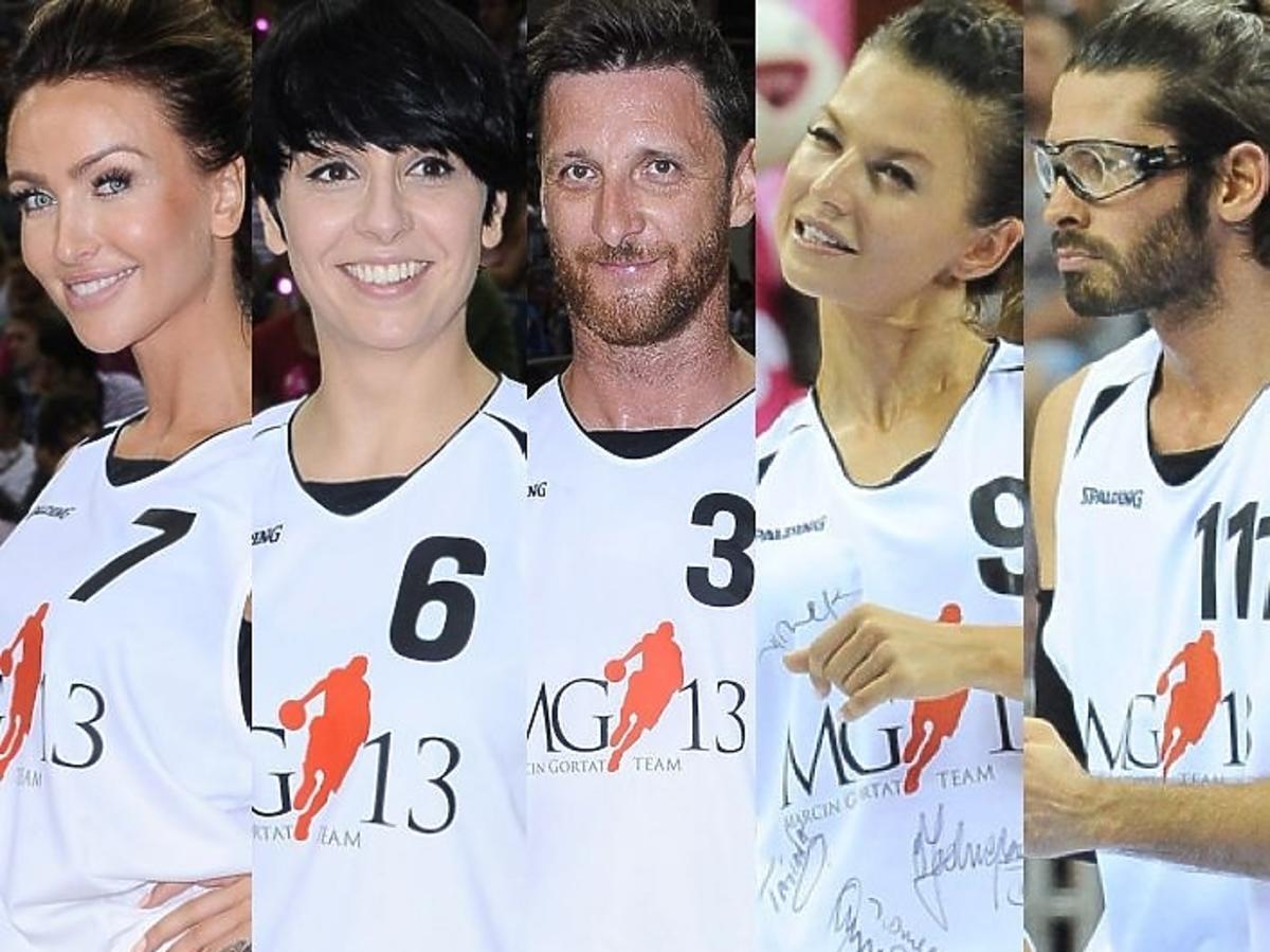 Gwiazdy na meczu koszykówki z Marcinem Gortatem