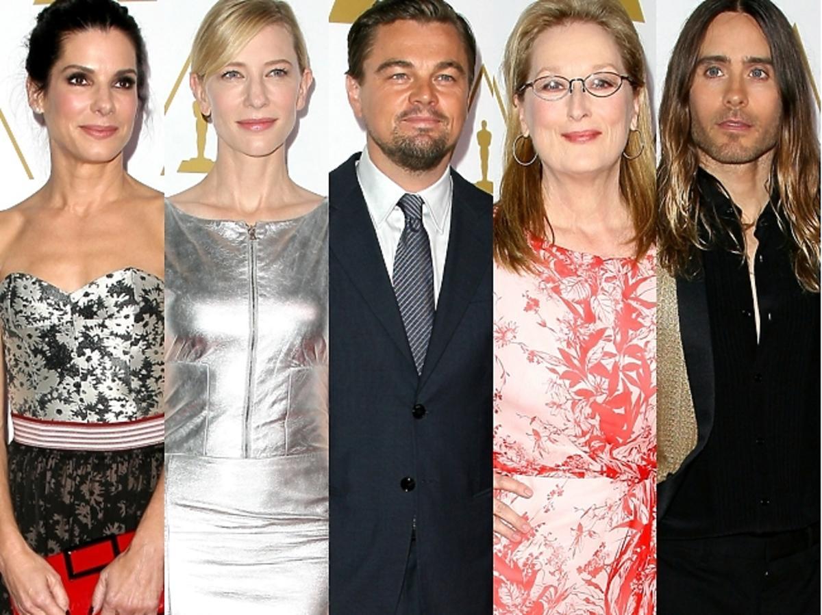 Gwiazdy podczas konferencji prasowej nominacji do Oscarów 2014