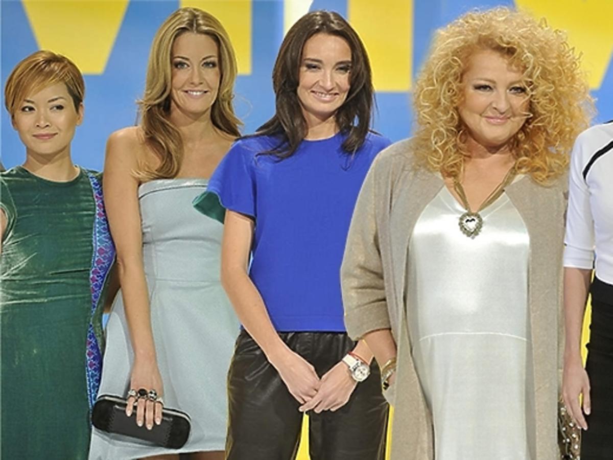 Gwiazdy TVN pozują do zdjęć na wiosennej ramówce