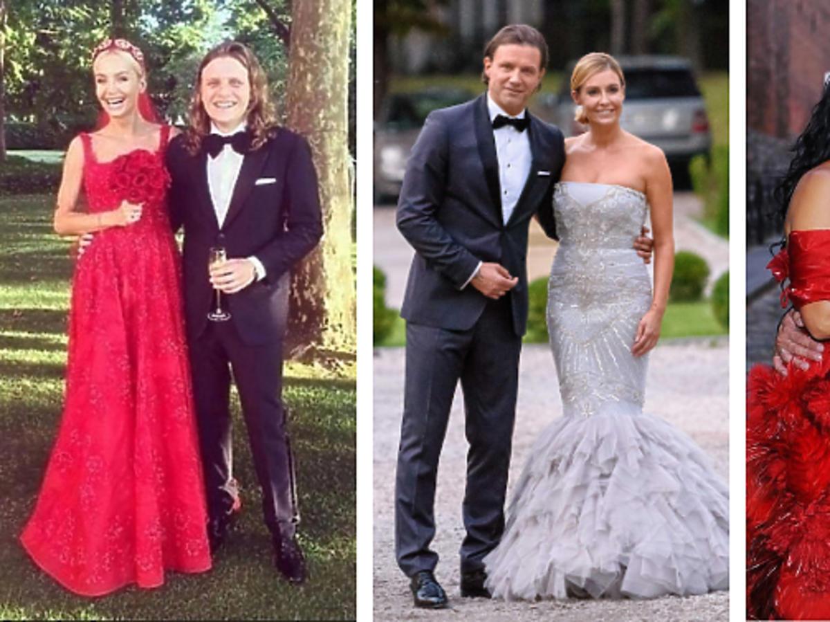 Gwiazdy w kolorowych sukniach ślubnych