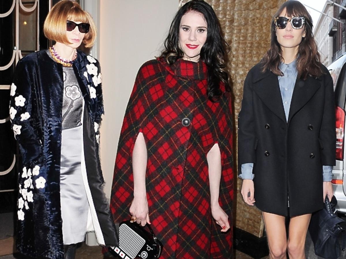 Gwiazdy w płaszczach na London Fashion Week