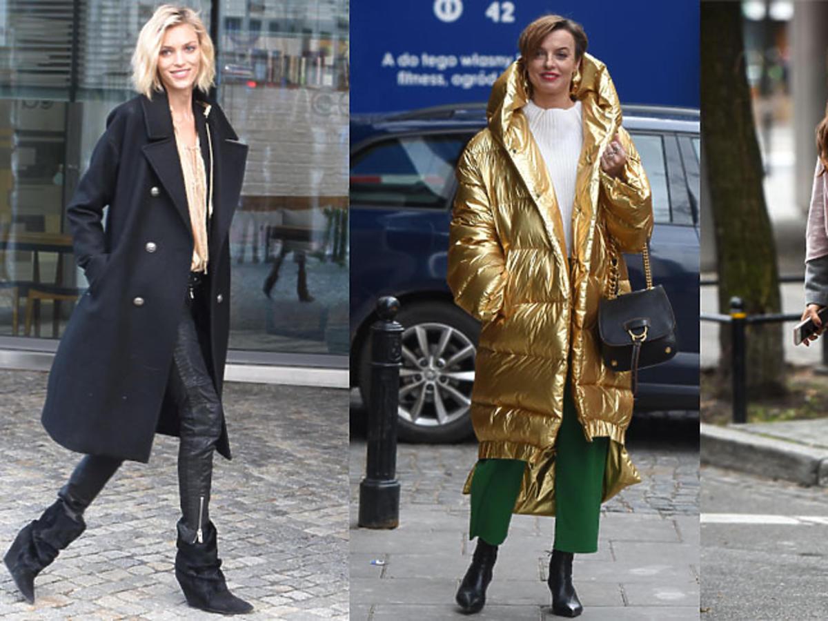 Gwiazdy w zimowych kurtkach i płaszczach