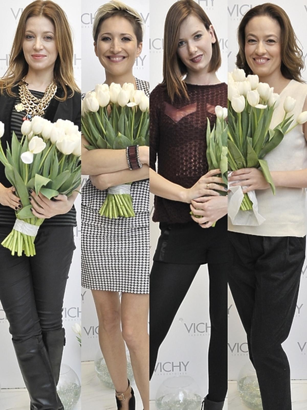 Gwiazdy z tulipanami na konferencji Vichy
