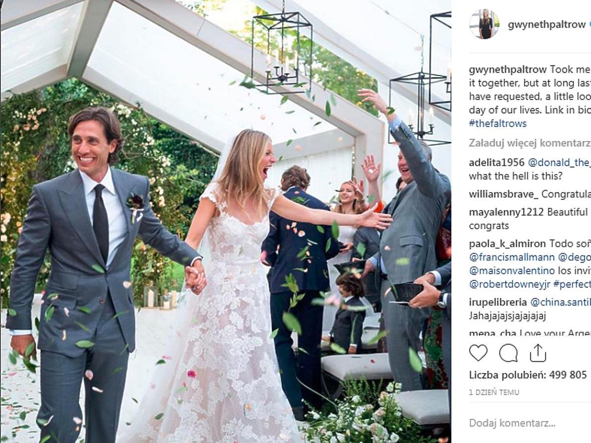 Gwyneth Paltrow wzięła ślub, zdjęcia, kim jest mąż