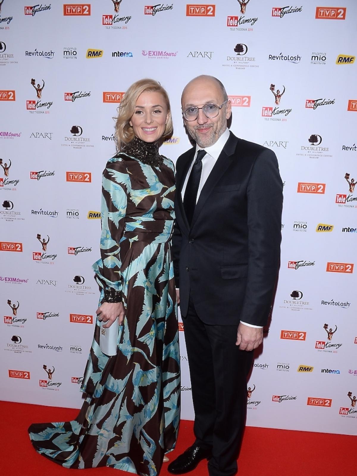 Halina Mlynkova i Leszek Wronka na gali TeleKamery 2015