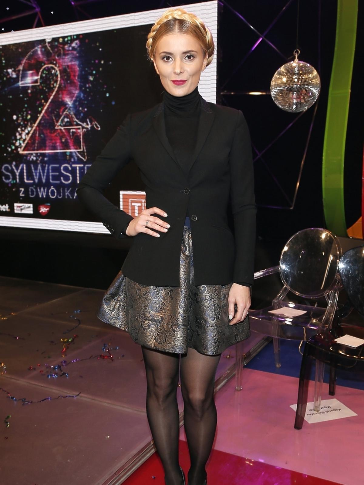 Halina Mlynkova na konferencji Sylwester z Dwójką we Wrocławiu 2014/2015