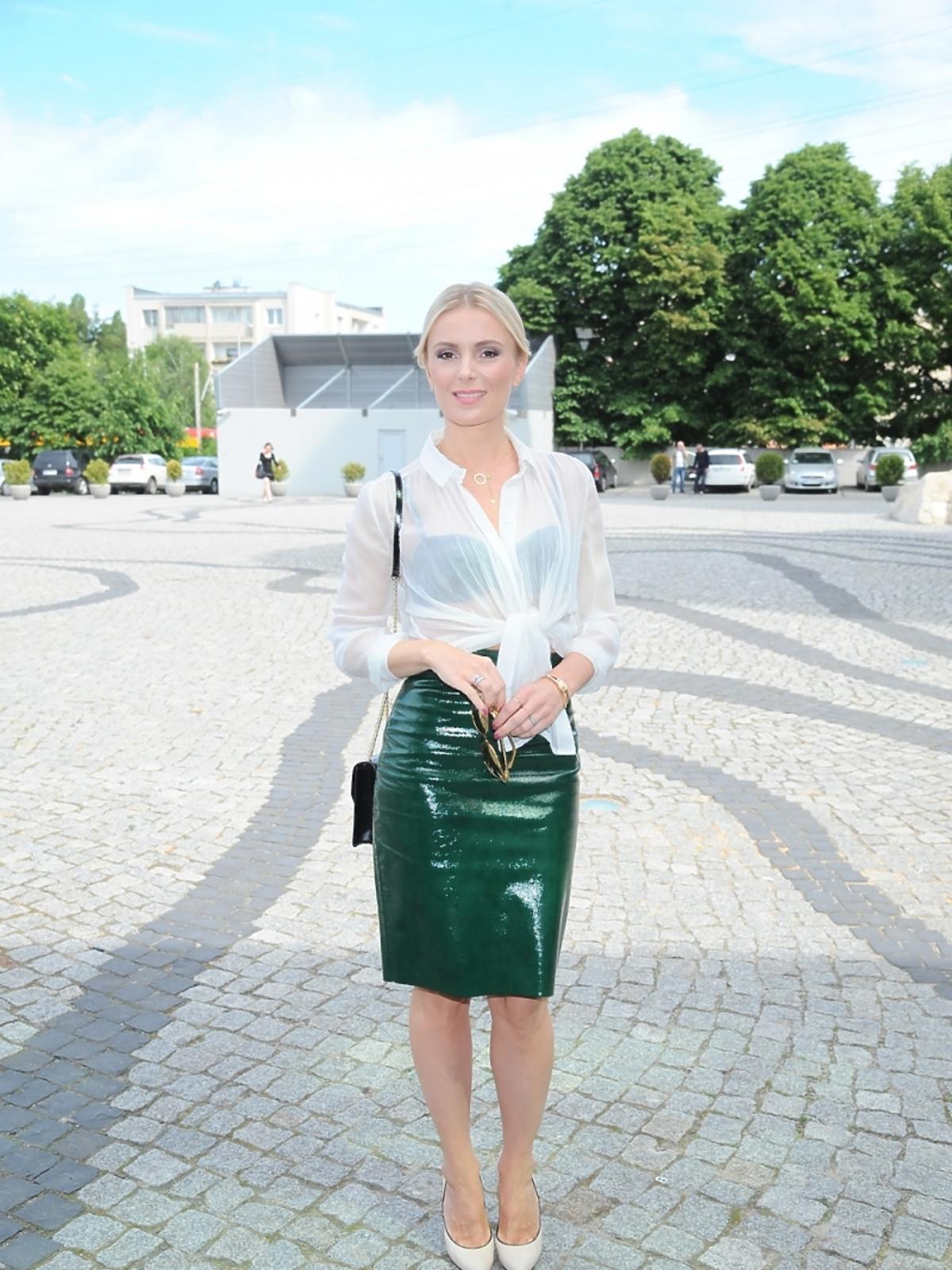 Halina Mlynkova na konferencji The Voice of Poland