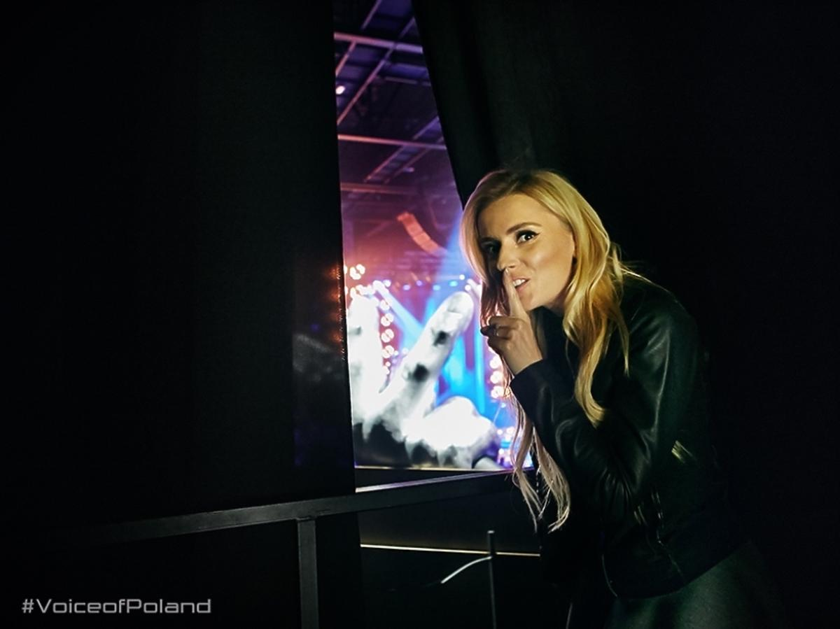 Halina Mlynkova na planie The Voice of Poland 6
