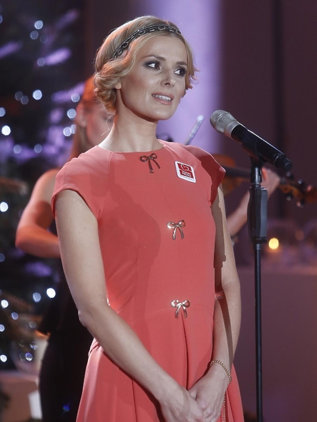 Halina Mlynkova podczas świątecznego koncertu w Pałacu Prezydenckim