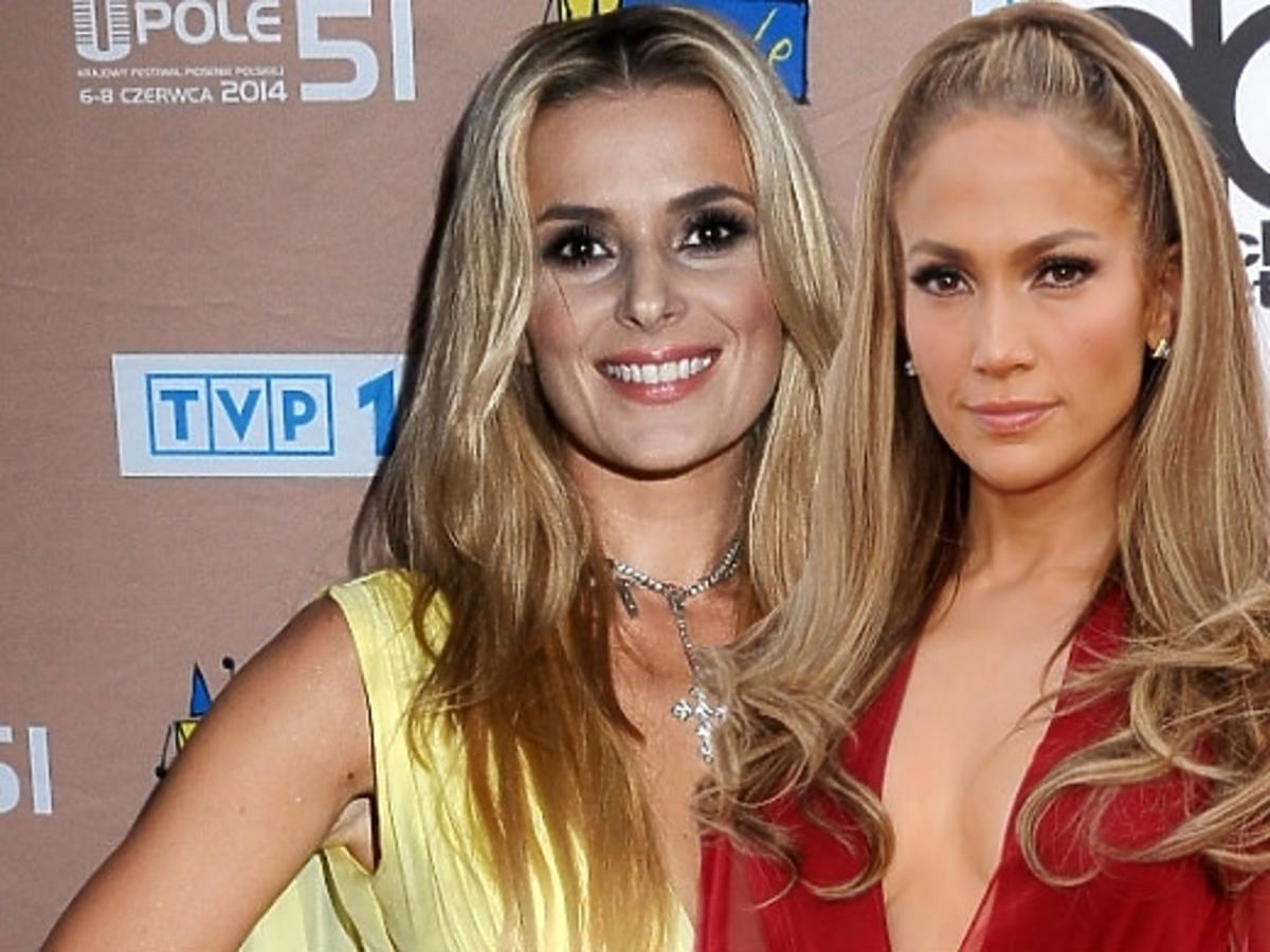Halina Mlynkova w tej samej sukience co Jennifer Lopez