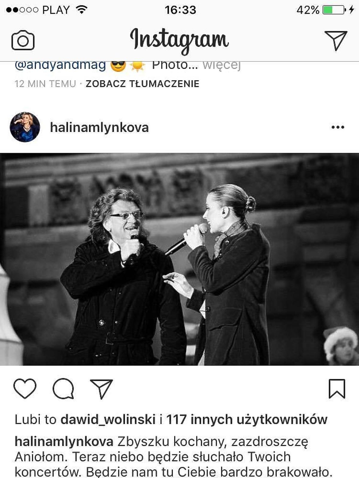 Halina Mlynkova żegna Zbigniewa Wodeckiego